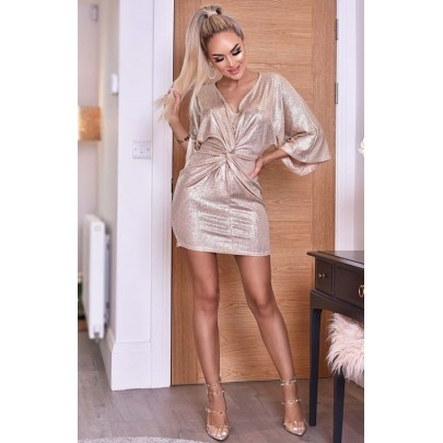 Dámske champagne šaty TEODORA
