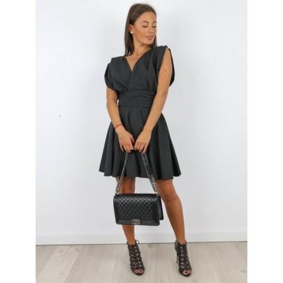 Dámske čierne šaty AGNELIA