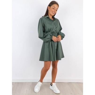 Dámske khaki šaty AGNESCA