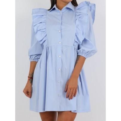 Dámske modré šaty AGNOLA