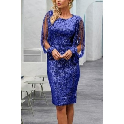 Dámske elegantné modré šaty MARCELLA