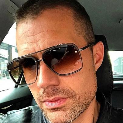 Pánske slnečné okuliare Tatum čierne hnedé