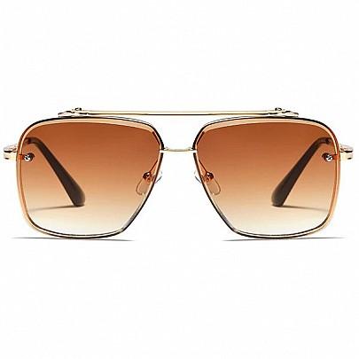 Pánske slnečné okuliare Tatum hnedé gold