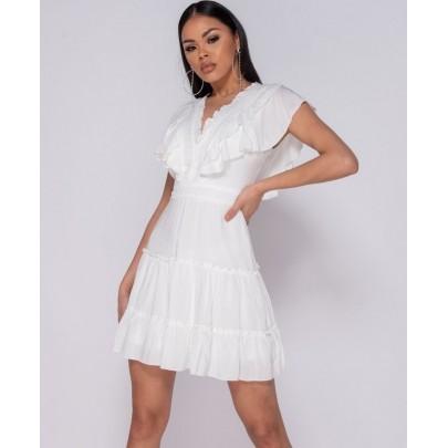 Dámske letné biele šaty