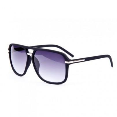 Slnečné okuliare URBAN - čierne chrom lem