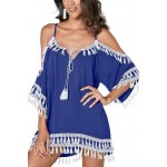 Štýlové plážové šaty - modré