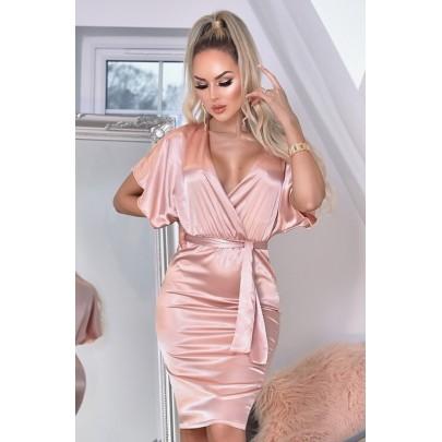 Dámske ružové šaty ELVERA