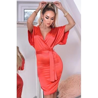 Dámske červené šaty ELVERA