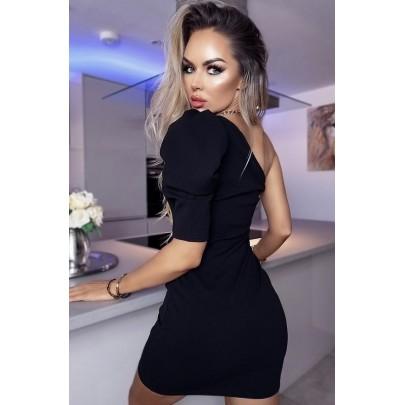 Dámske čierne mini šaty CLARICE