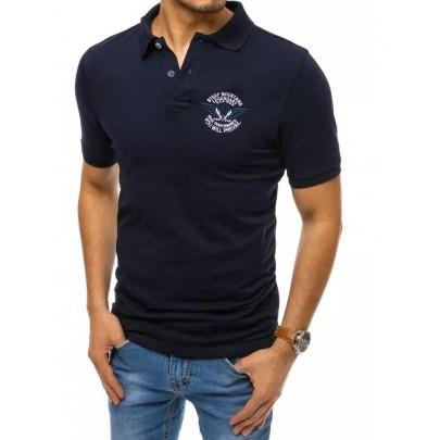 Trendové tmavomodré pánske polo tričko PX0468