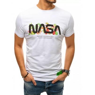 Zaujímave biele pánske tričko NASA VRX4440