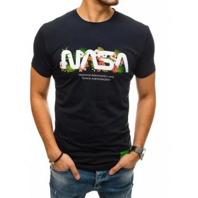 Zaujímave tmavomodré pánske tričko NASA RX4442
