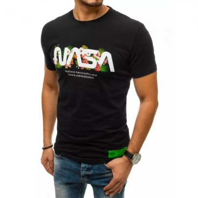 Zaujímave čierne pánske tričko NASA VRX4443