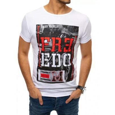 Trendové biele pánske tričko VRX4530