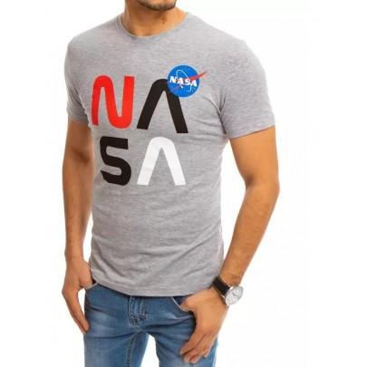Sivé pánske tričko s potlačou NASA RX4554