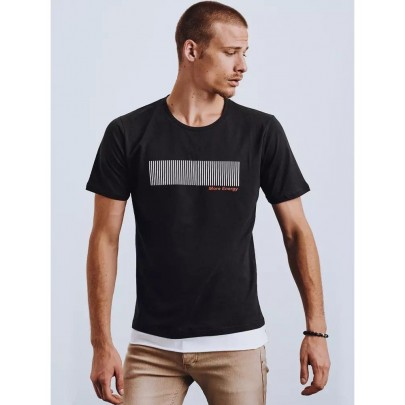 Moderné čierne pánske tričko RX4649