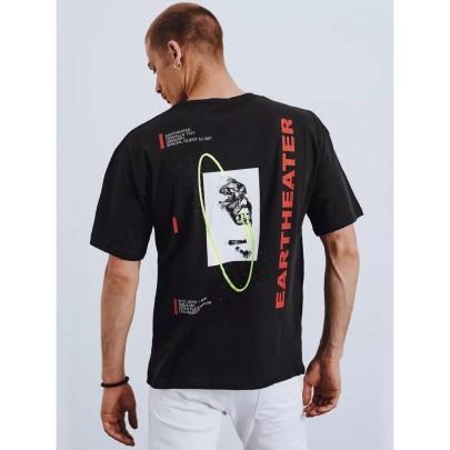 Čierne štýlové pánske tričko RX4657
