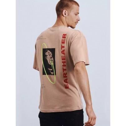 Svetlohnedé štýlové pánske tričko RX4659