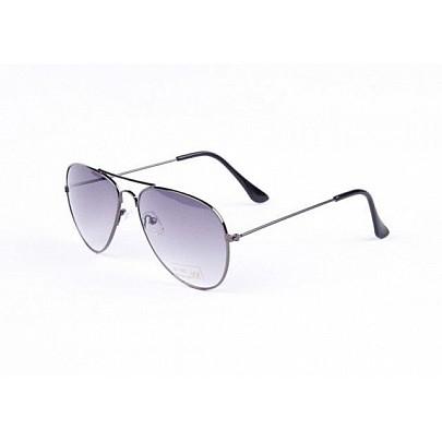 Sluneční brýle AVIATOR - pilotky černý kovový rám černé skla Gradual