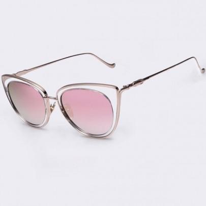 Dámske slnečné okuliare Elia zlatý rám ružové sklá