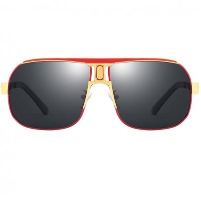 Polarizačné slnečné okuliare pilotky Roy červené
