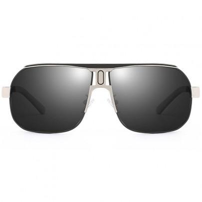 Polarizačné slnečné okuliare pilotky Roy strieborné