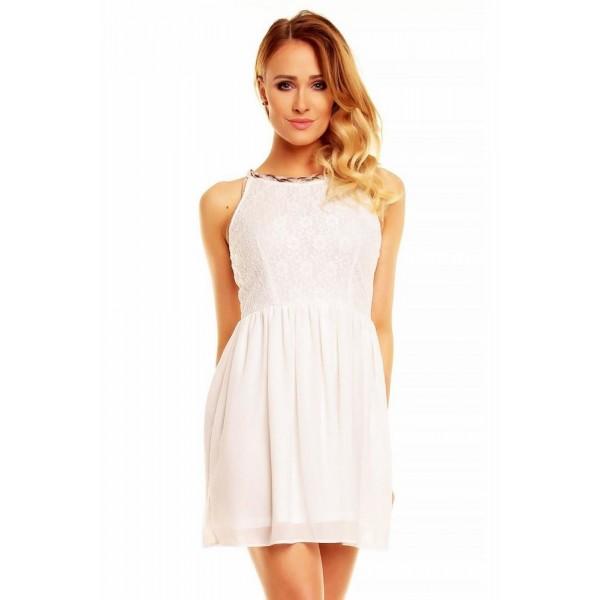 Dámske čipkované biele šaty Carmela
