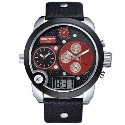 Pánske hodinky TripleZone Digital - červené