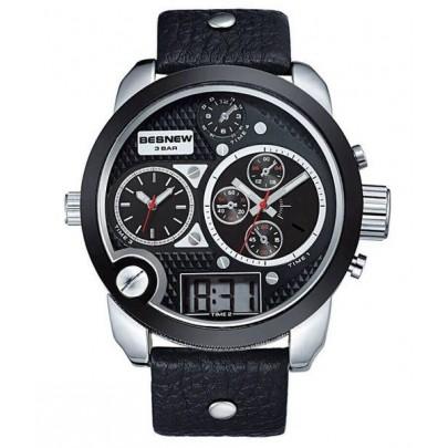 Pánske hodinky TripleZone Digital - čierne
