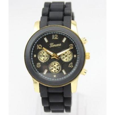 Dámske hodinky Geneva Sunshine- čierne