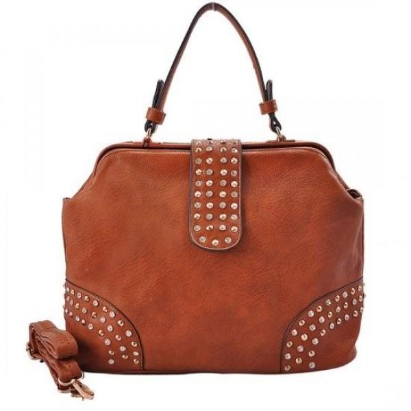 Vybíjaná kabelka - hnedá