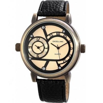 Pánske hodinky Excellanc Dual Zone - čierne Bronz