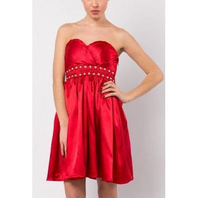 Dámske šaty Diamond - červené