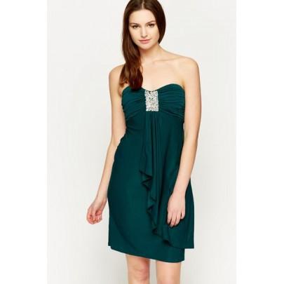 Dámske šaty Treasure - tmavozelené