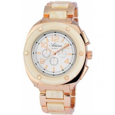 Dámske hodinky Adrina - zlaté biele