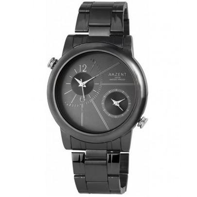 Pánske kovové hodinky Akzent Dual - čierne