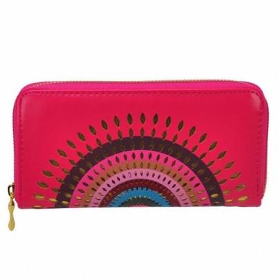Štýlová peňaženka Aztec ružová