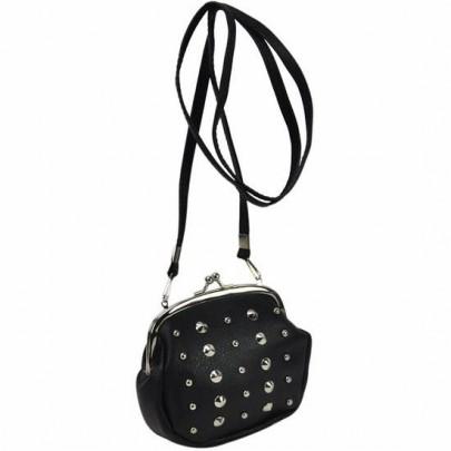 Vybíjaná peňaženka cez plece čierna