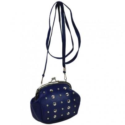 Vybíjaná peňaženka cez plece modrá