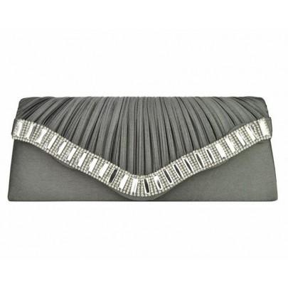 Večerná/listová kabelka - sivá
