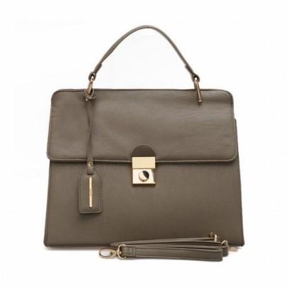 Kufríková kabelka - sivá