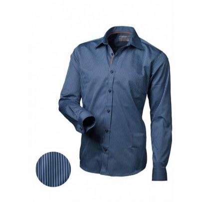 Pánska modrá košeľa prúžkovaná