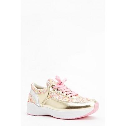 Dámske tenisky Mettalic - ružové zlaté