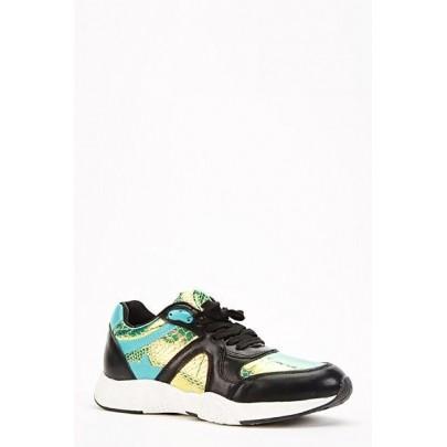 Dámske tenisky Croc čierne - zelené
