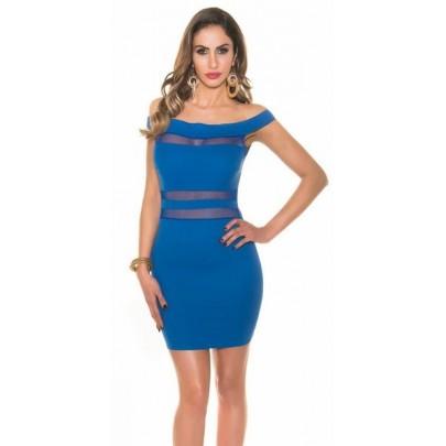 Dámske trendy šaty Visible - modré
