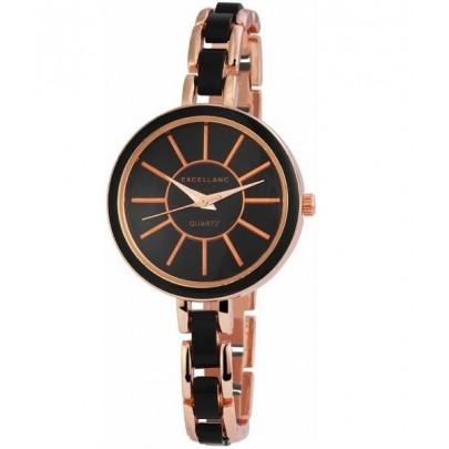 Dámske hodinky Excellanc zlaté čierne