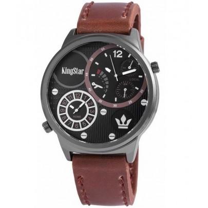 Pánske hodinky King Star tmavohnedé