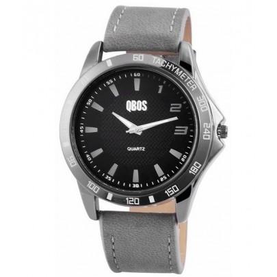 Pánske hodinky QBOS sivé