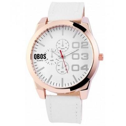Pánske hodinky QBOS biele Gold