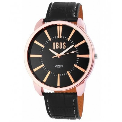 Pánske hodinky QBOS čierne Gold